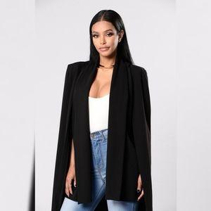 Fashion Nova Great Escape Cape Jacket Medium
